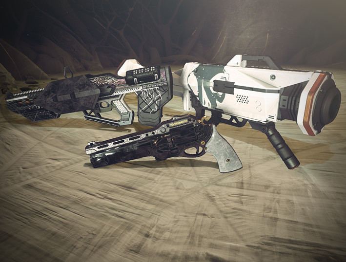 Icon depicting New Exotic Weapon Ornaments.