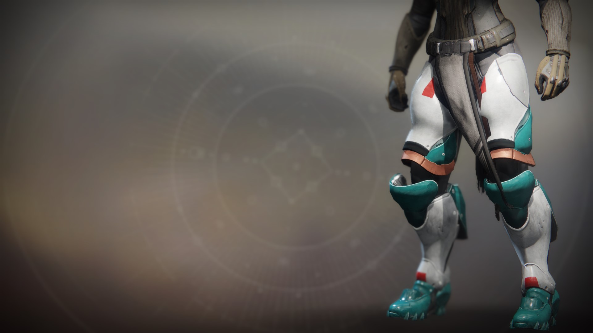 An in-game render of the Terra Concord Greaves.