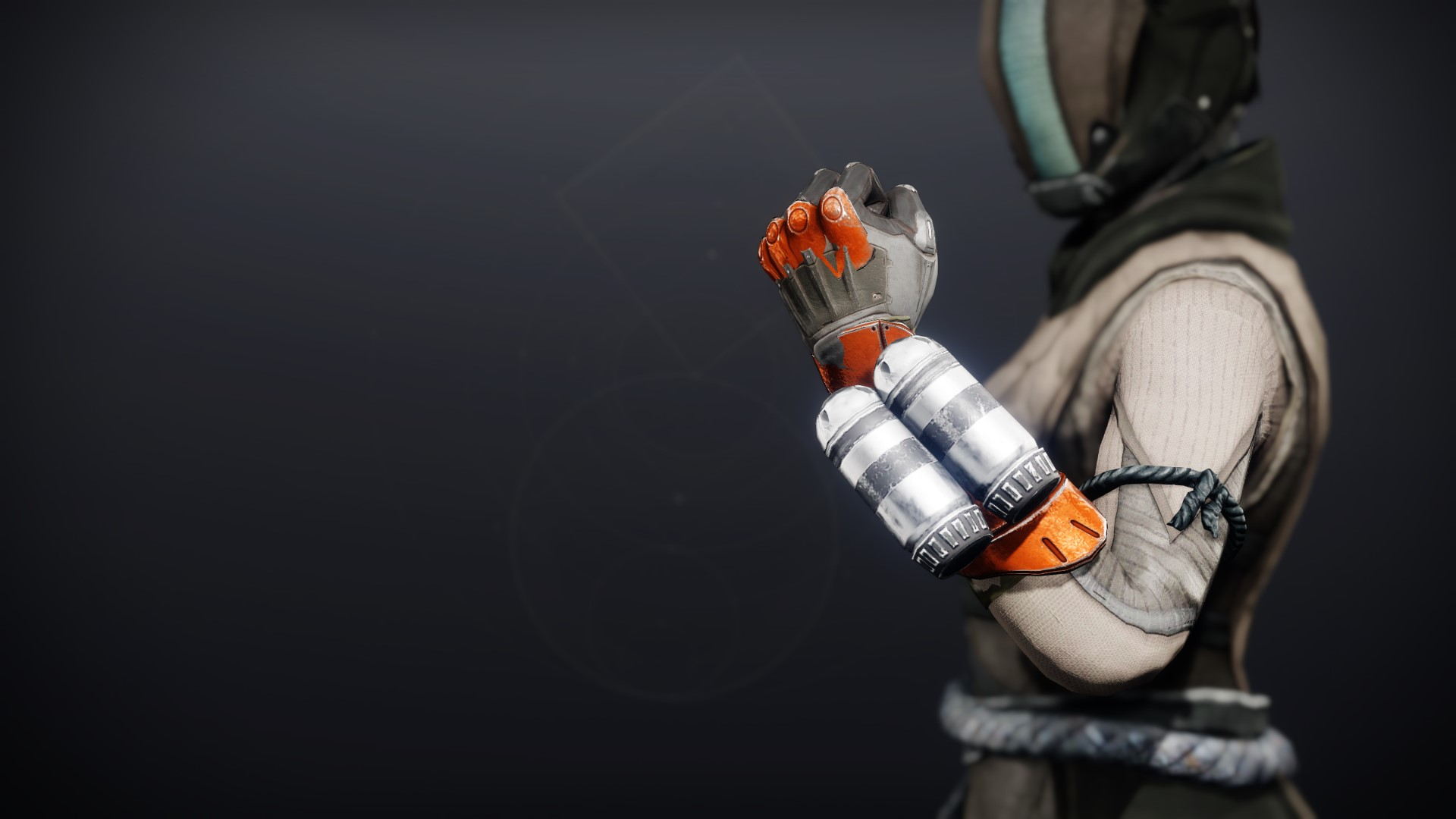 An in-game render of the Phobos Warden Gloves.