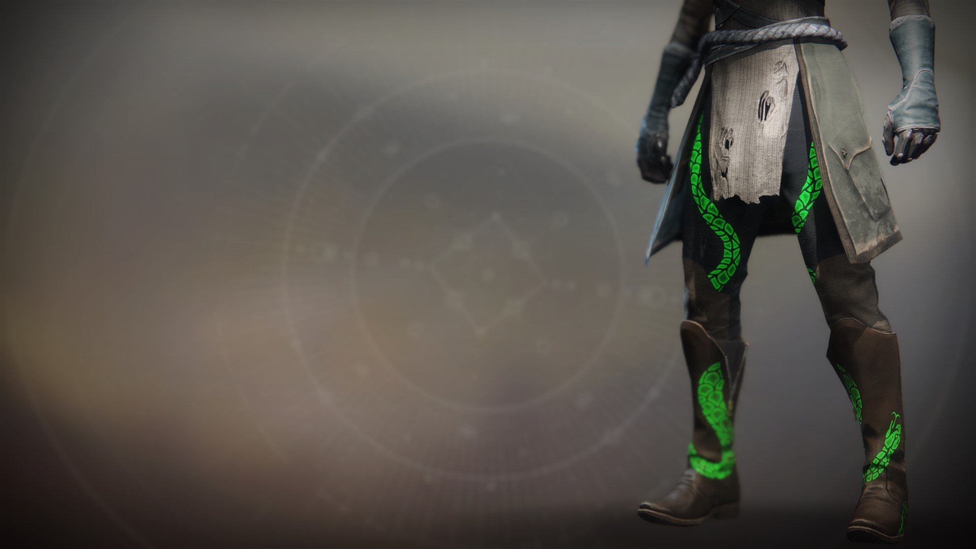An in-game render of the Illicit Reaper Boots.