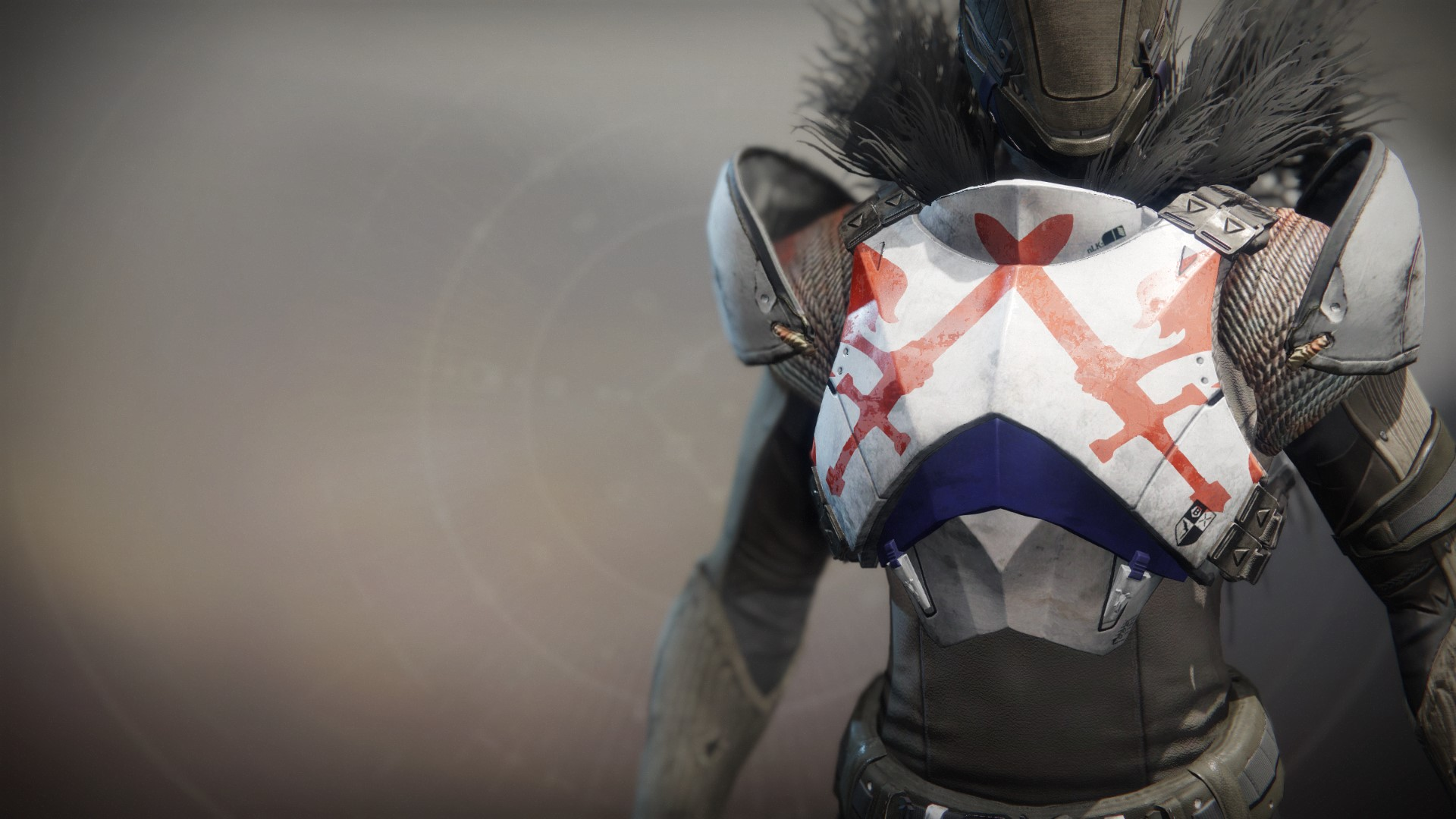 An in-game render of the Fire-Forged Titan Chest Ornament.