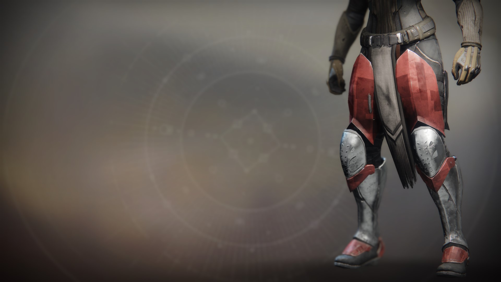 An in-game render of the Exodus Down Greaves.
