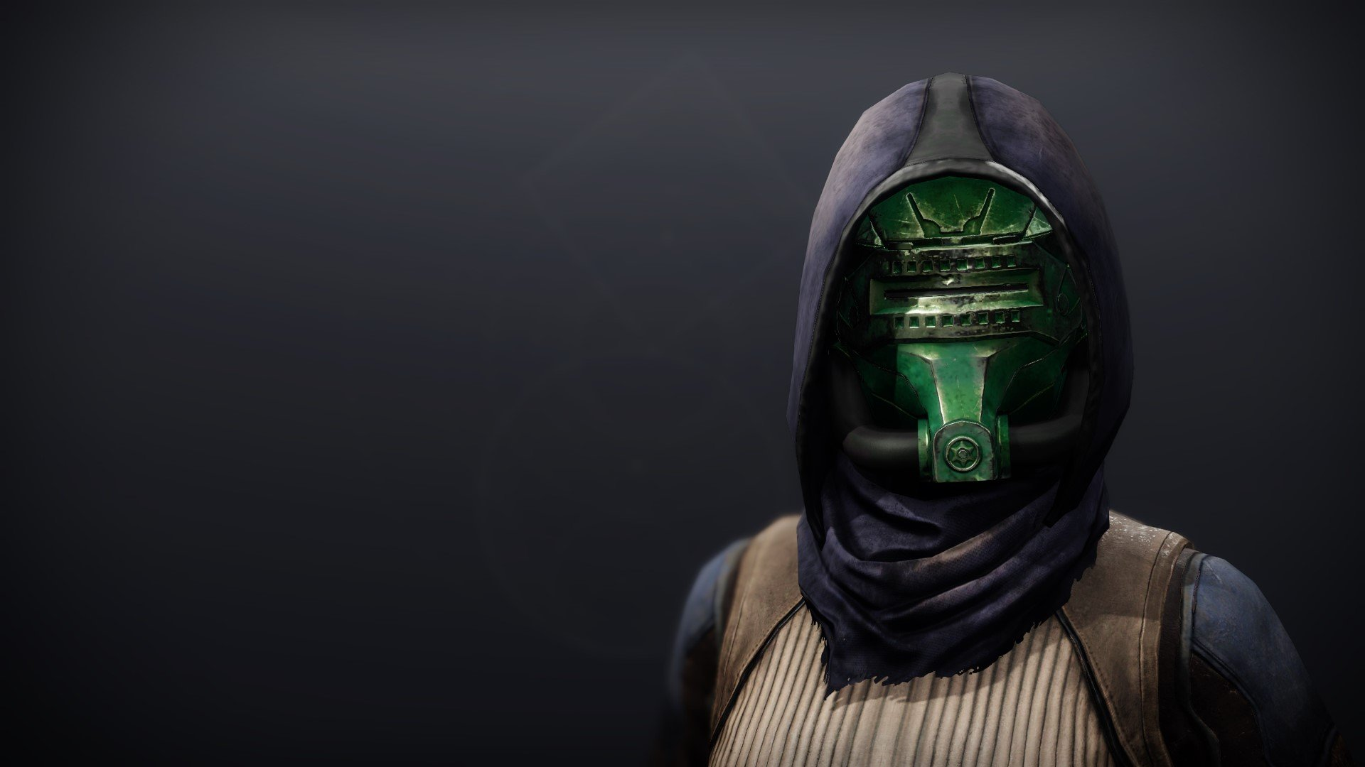 An in-game render of the Calamity Rig Mask.