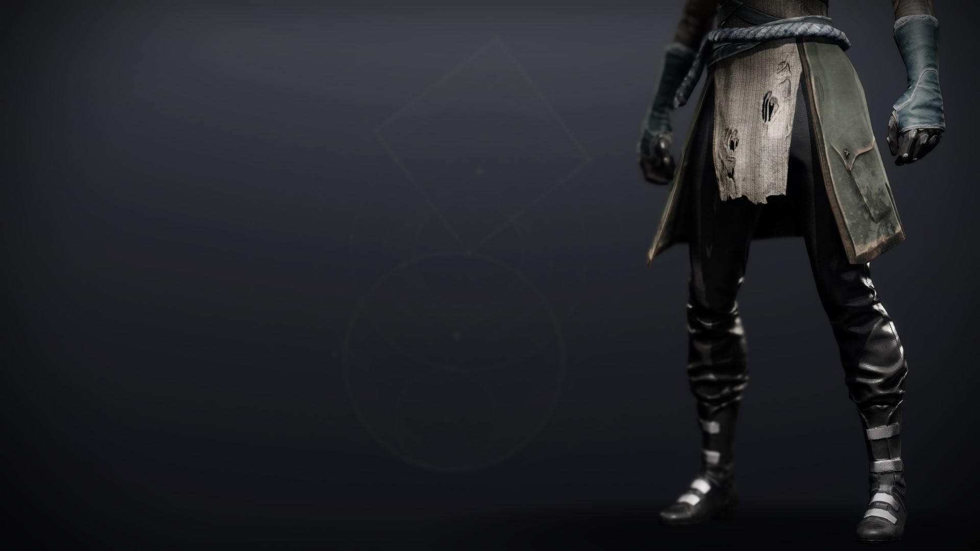An in-game render of the Cinder Pinion Boots.