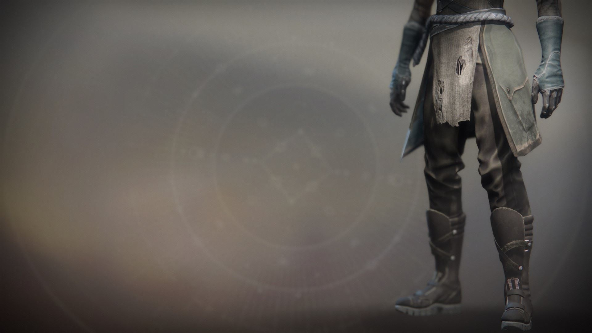 An in-game render of the Solstice Boots (Scorched).