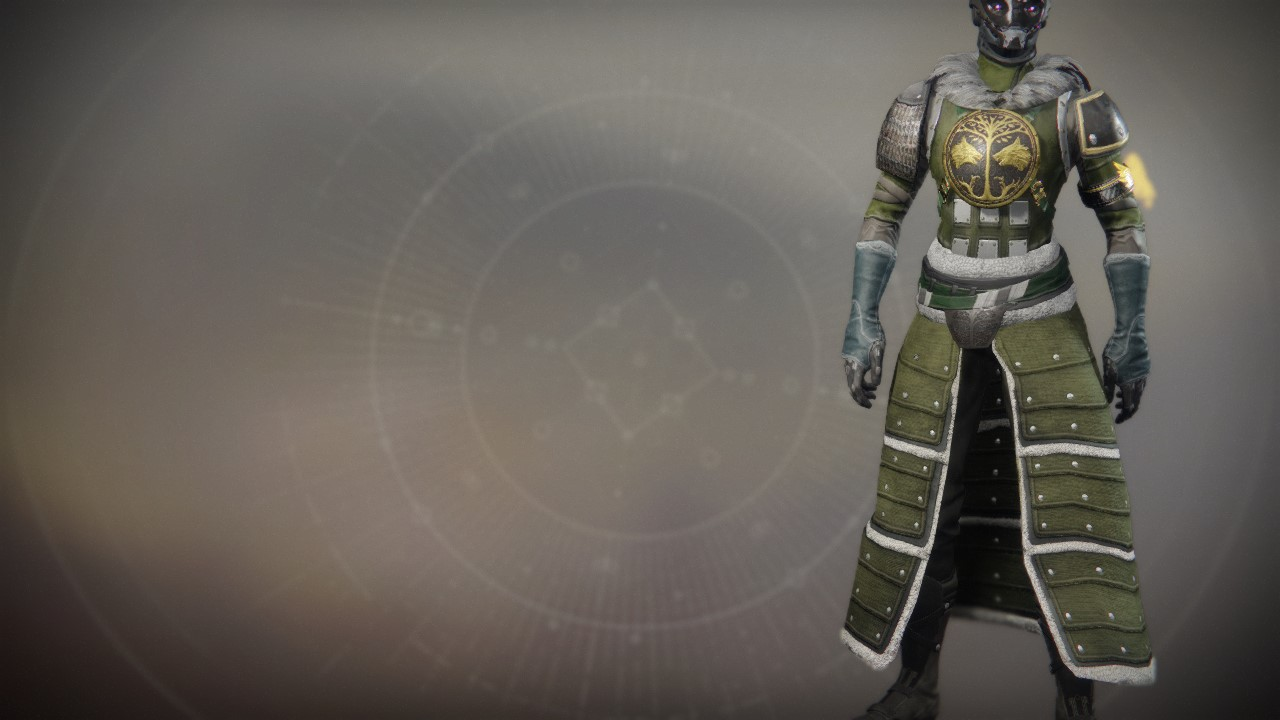 An in-game render of the Iron Truage Vestments.