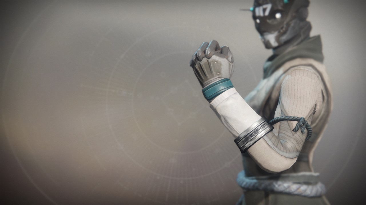 An in-game render of the Lost Pacific Gloves.