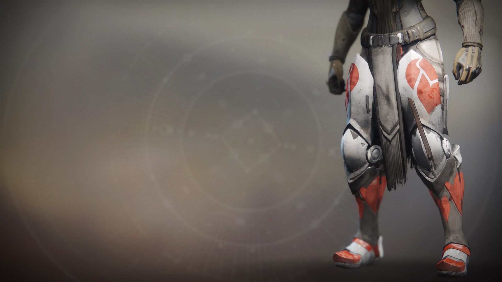 An in-game render of the Fire-Forged Titan Leg Ornament.