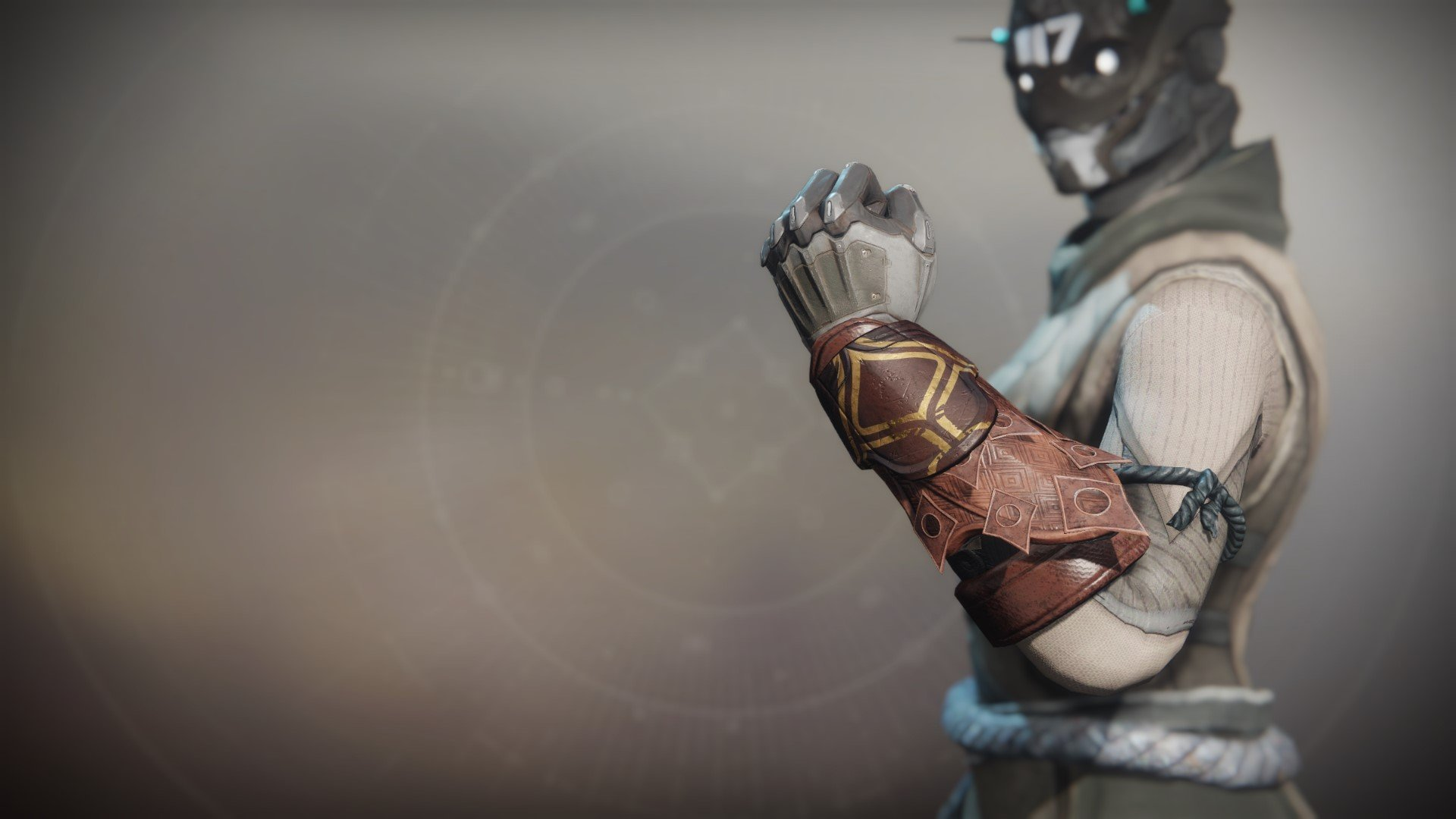 An in-game render of the Iron Fellowship Gloves.