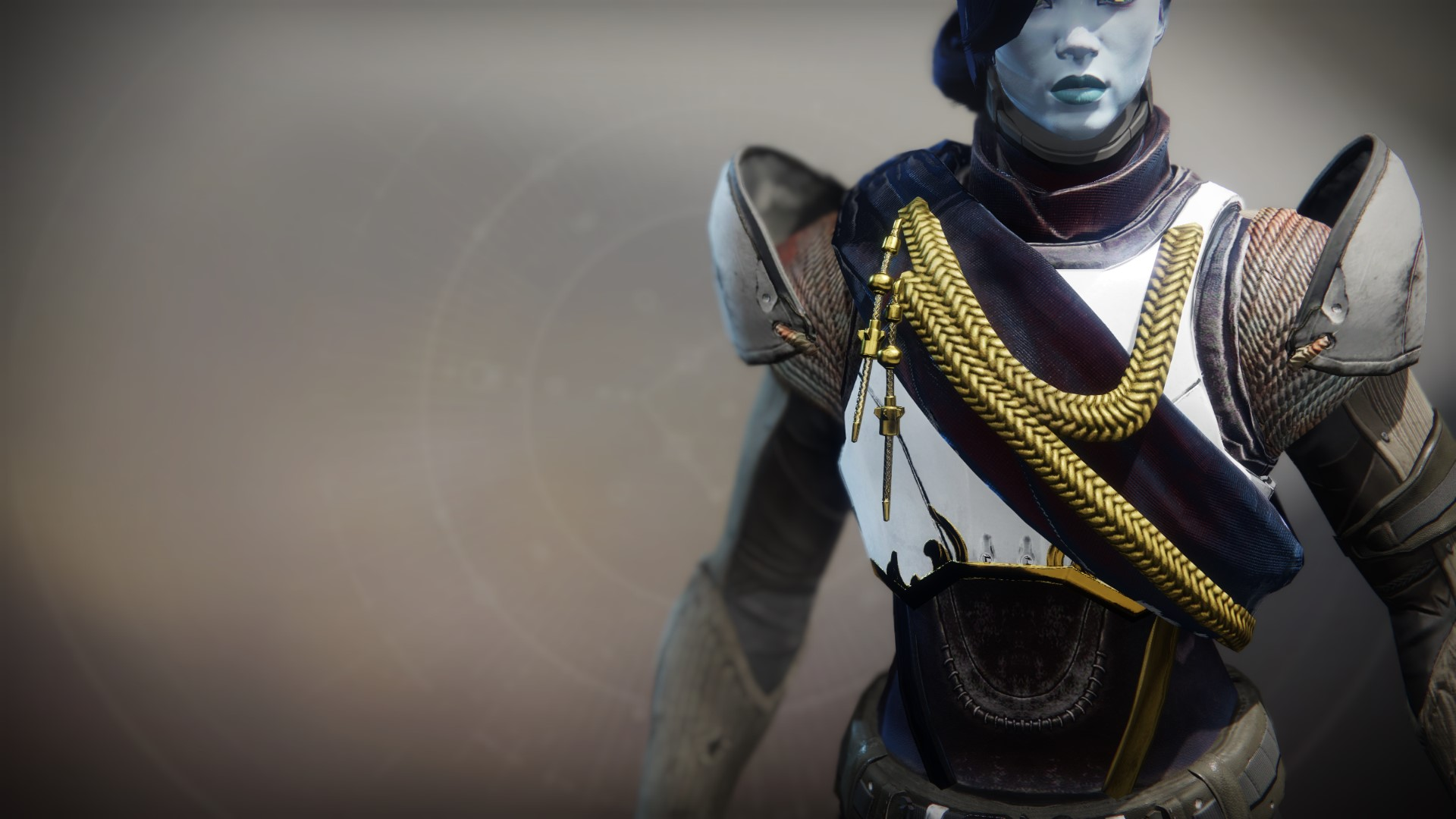 An in-game render of the Solstice Plate (Majestic).