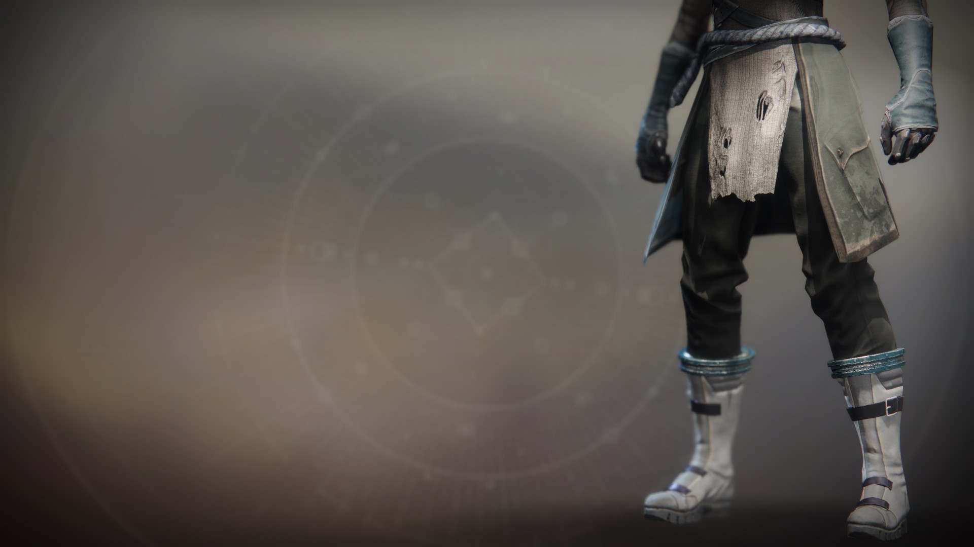 An in-game render of the Lost Pacific Boots.