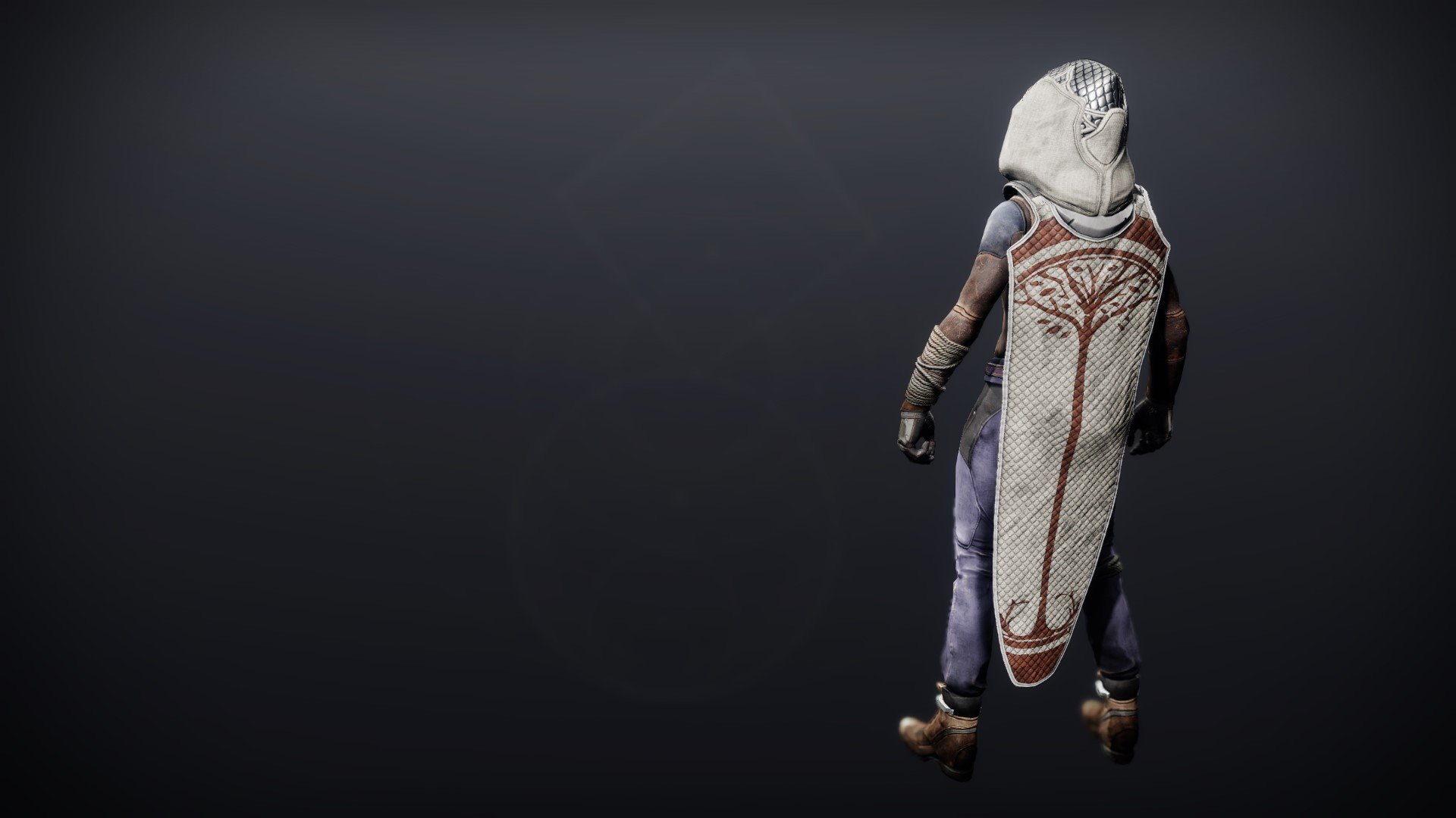 An in-game render of the Iron Will Cloak.
