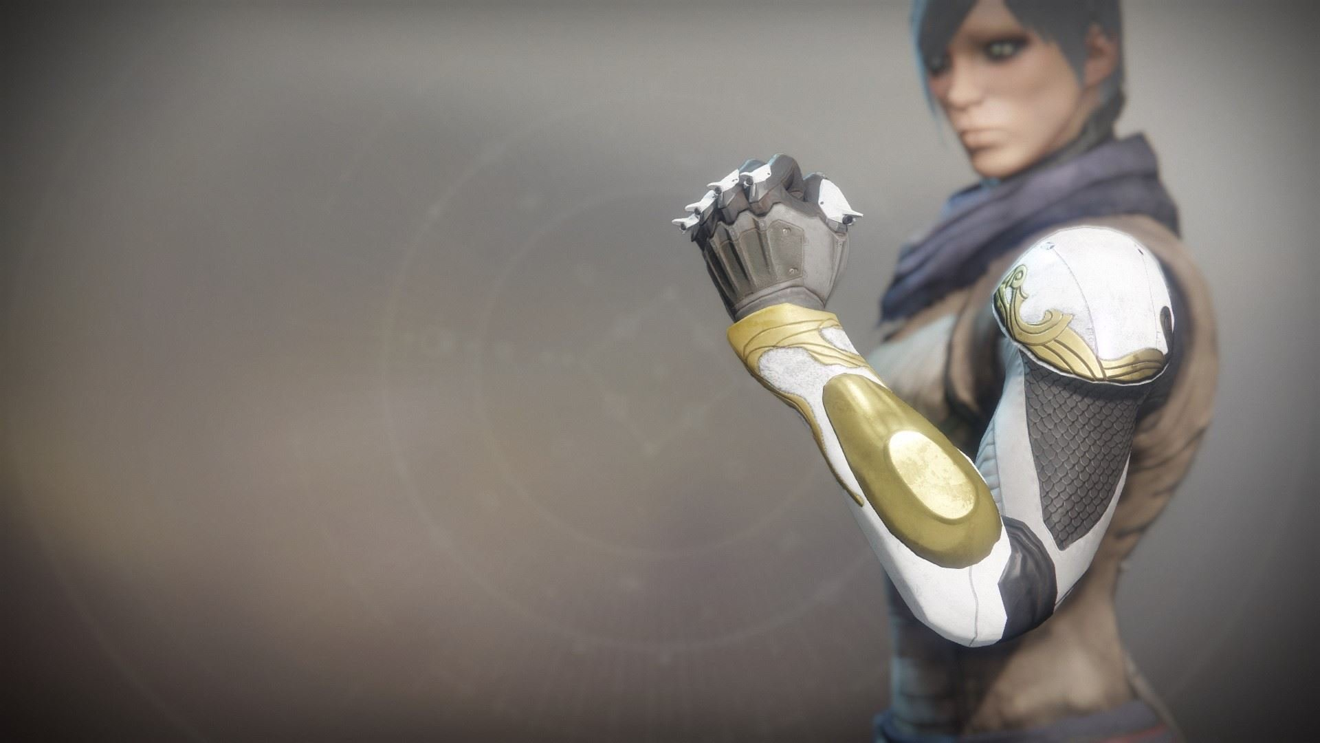 An in-game render of the Solstice Grasps (Resplendent).