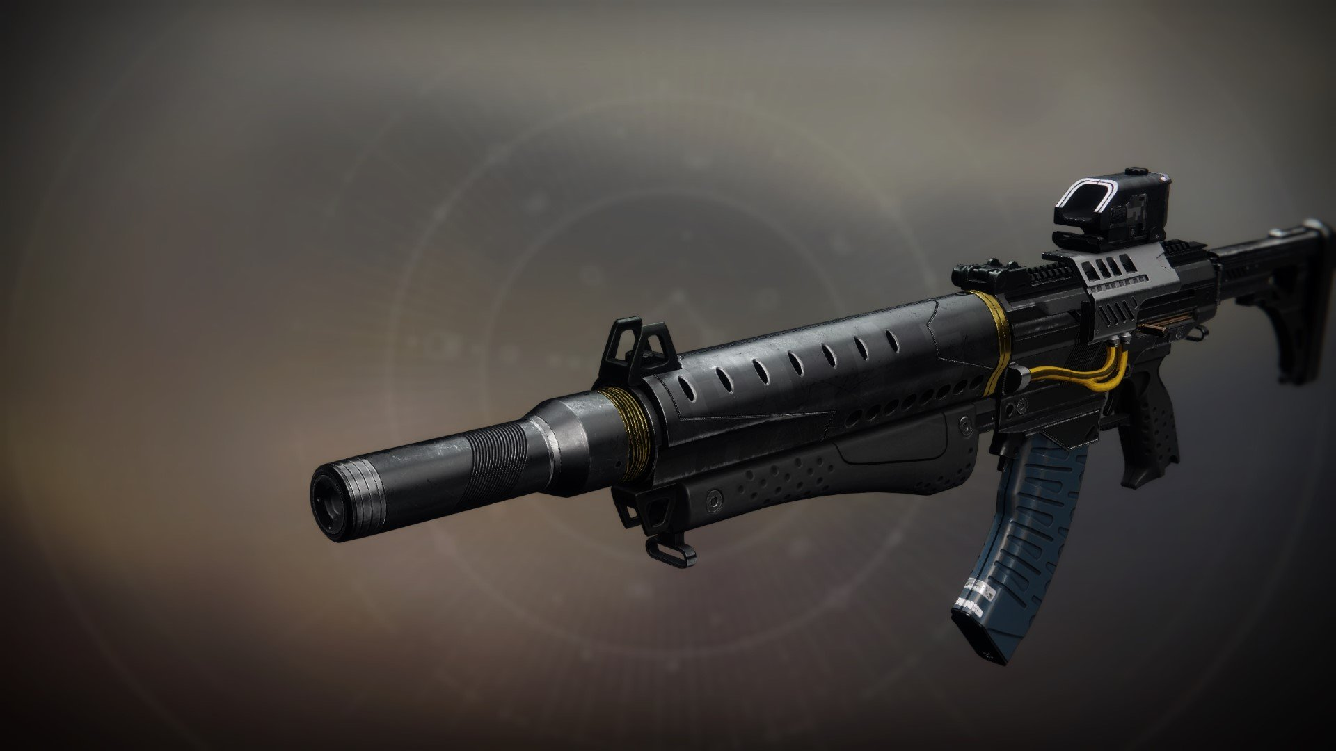 An in-game render of the Seventh Seraph Carbine.