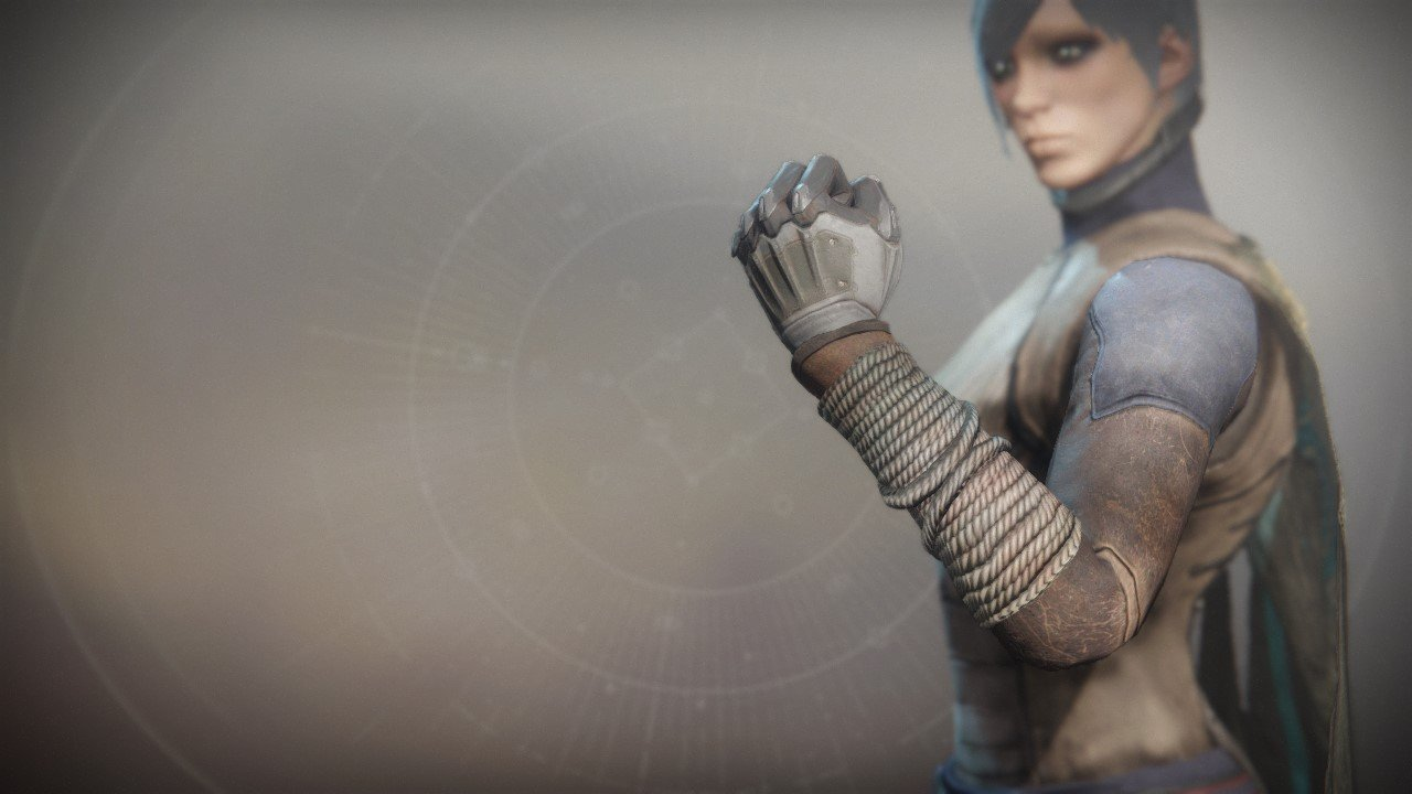 An in-game render of the Refugee Gloves.