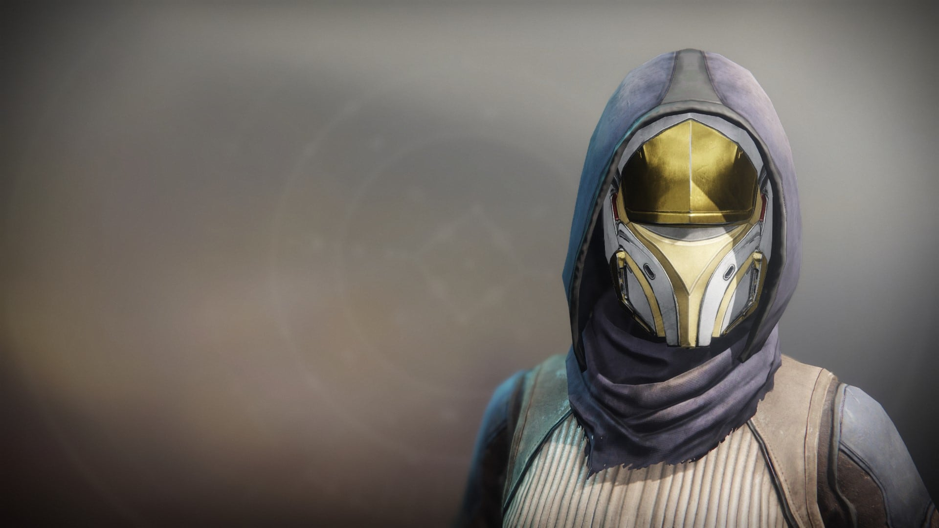 An in-game render of the Solstice Mask (Majestic).