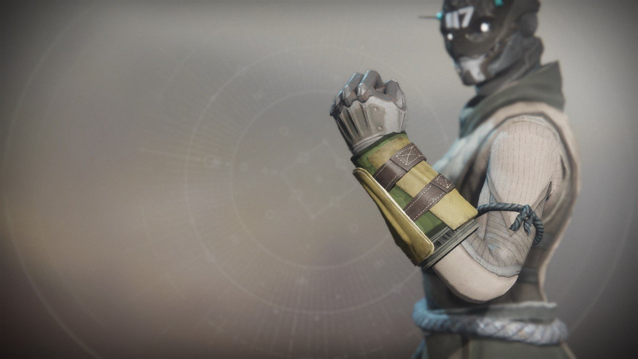 An in-game render of the Wildwood Gloves.