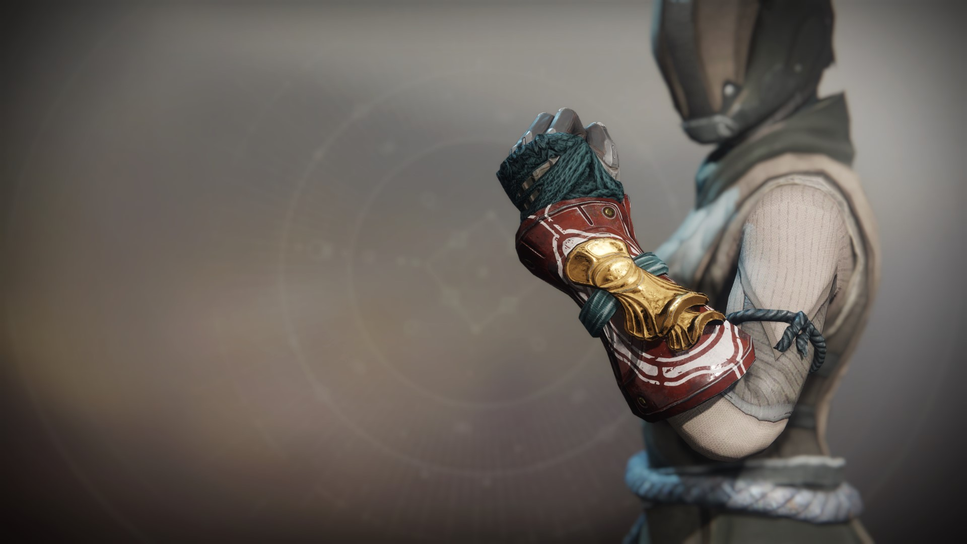 An in-game render of the Iron Remembrance Gloves.