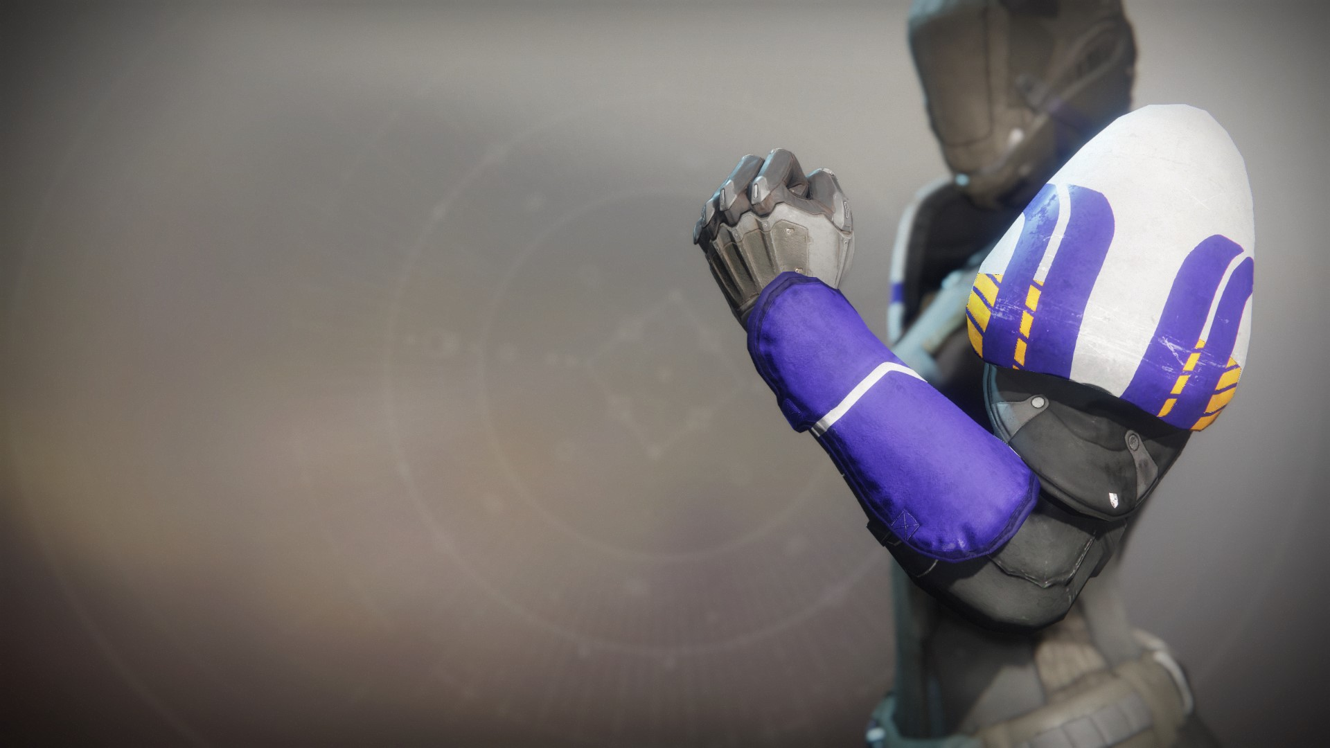 An in-game render of the Superior's Vision Gauntlets.
