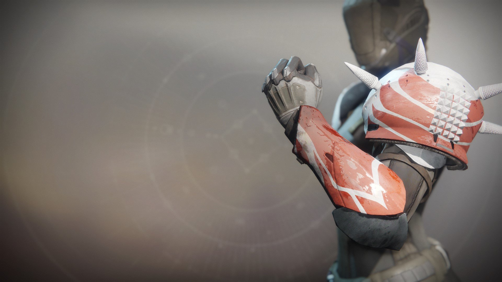 An in-game render of the Fire-Forged Titan Arm Ornament.