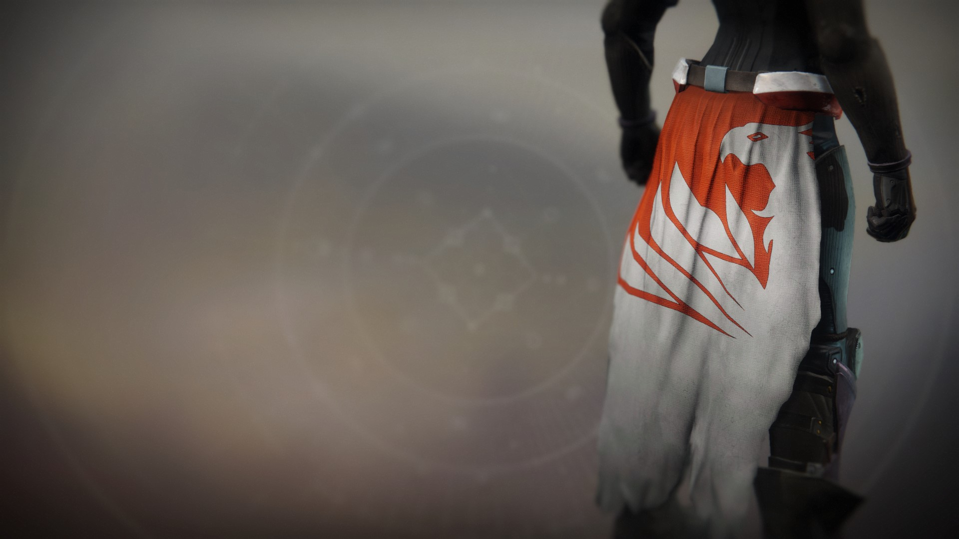 An in-game render of the Fire-Forged Titan Mark Ornament.