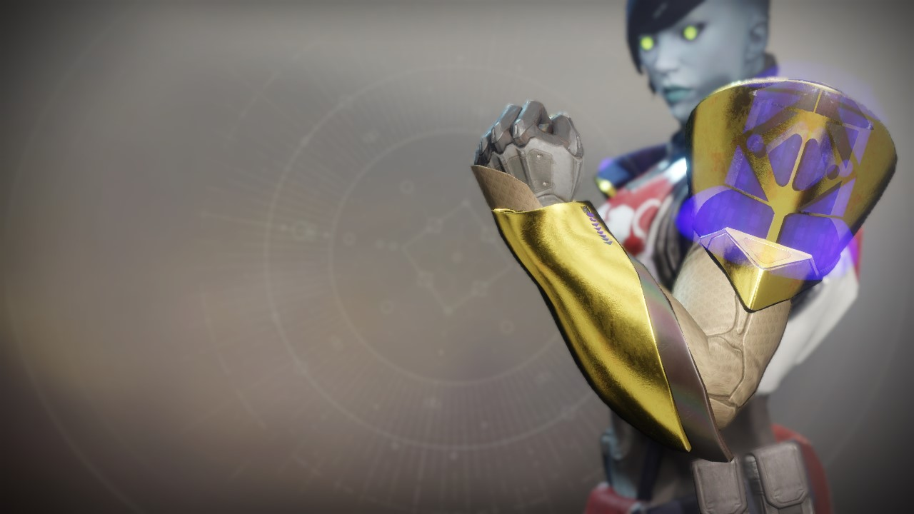 An in-game render of the Gauntlets of the Emperor's Champion.