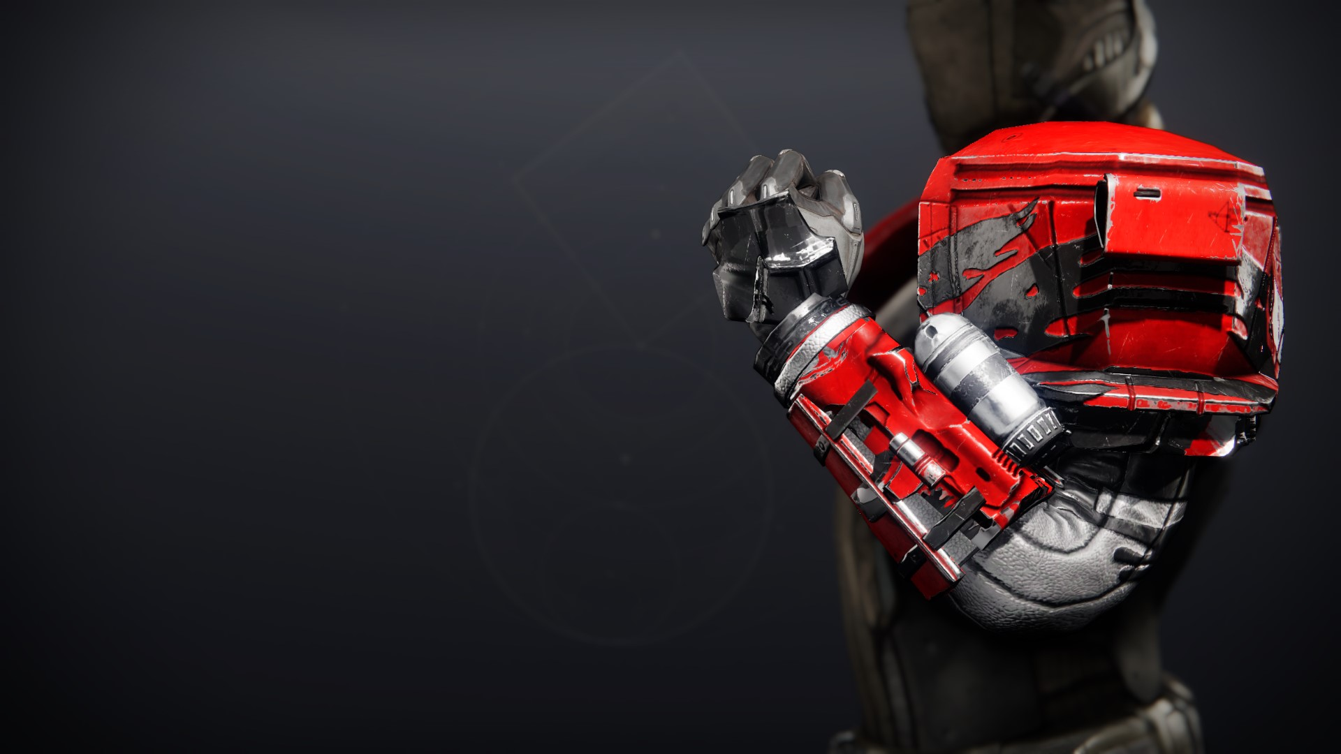An in-game render of the Cinder Pinion Gauntlets.