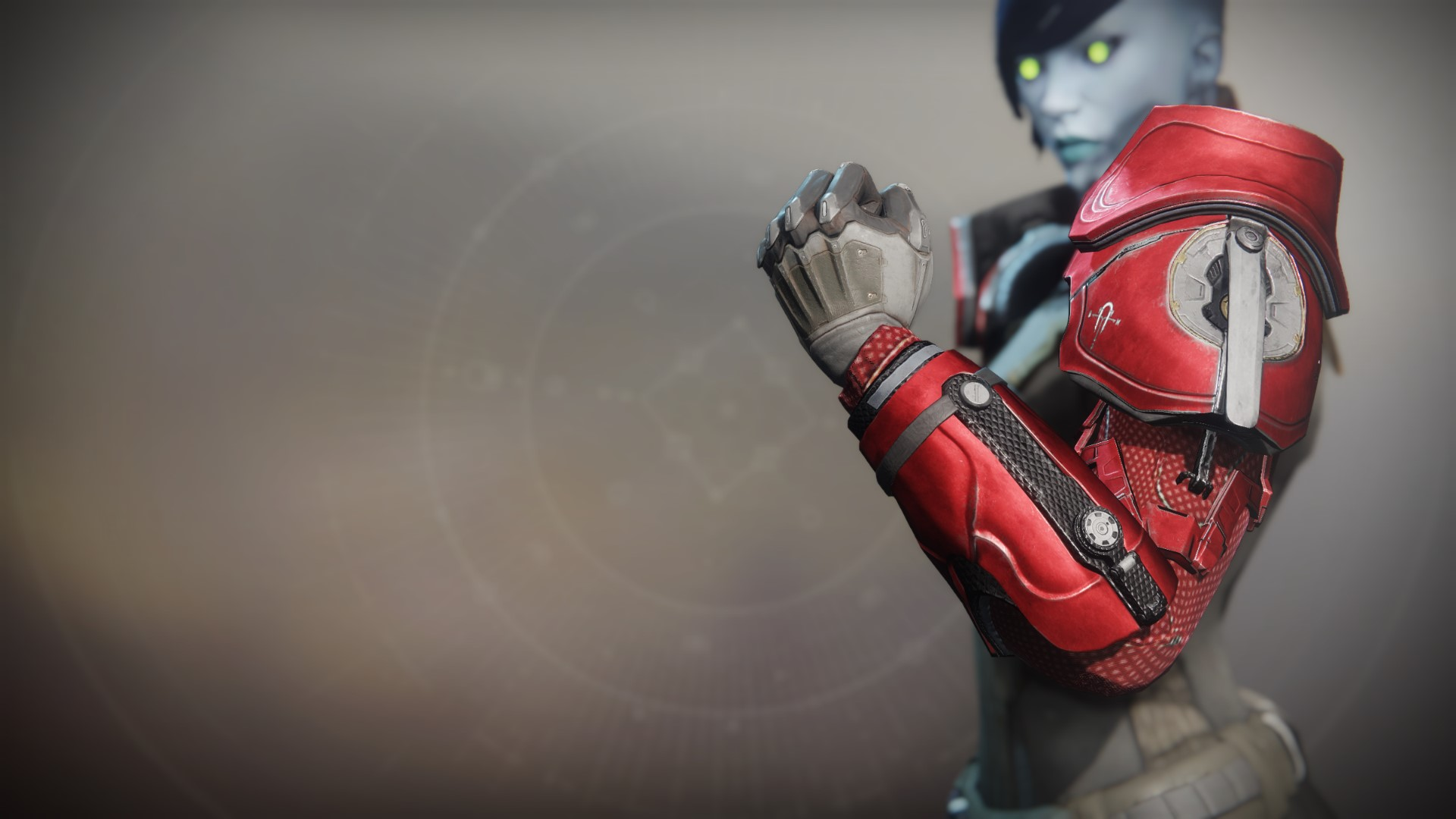 An in-game render of the Bulletsmith's Ire Gauntlets.