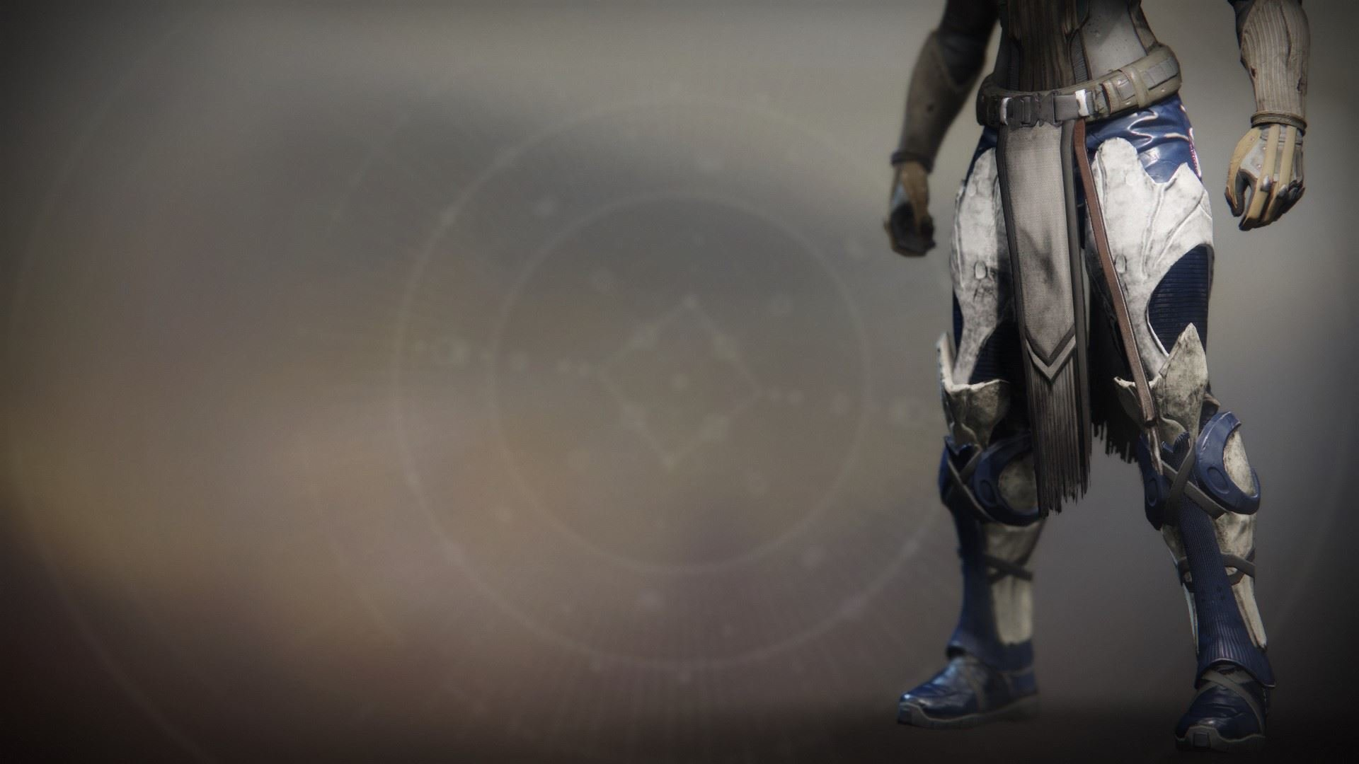 An in-game render of the Dragonfly Regalia Greaves.