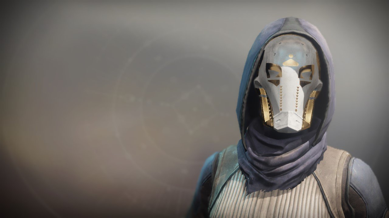 An in-game render of the Helm of the Ace-Defiant.