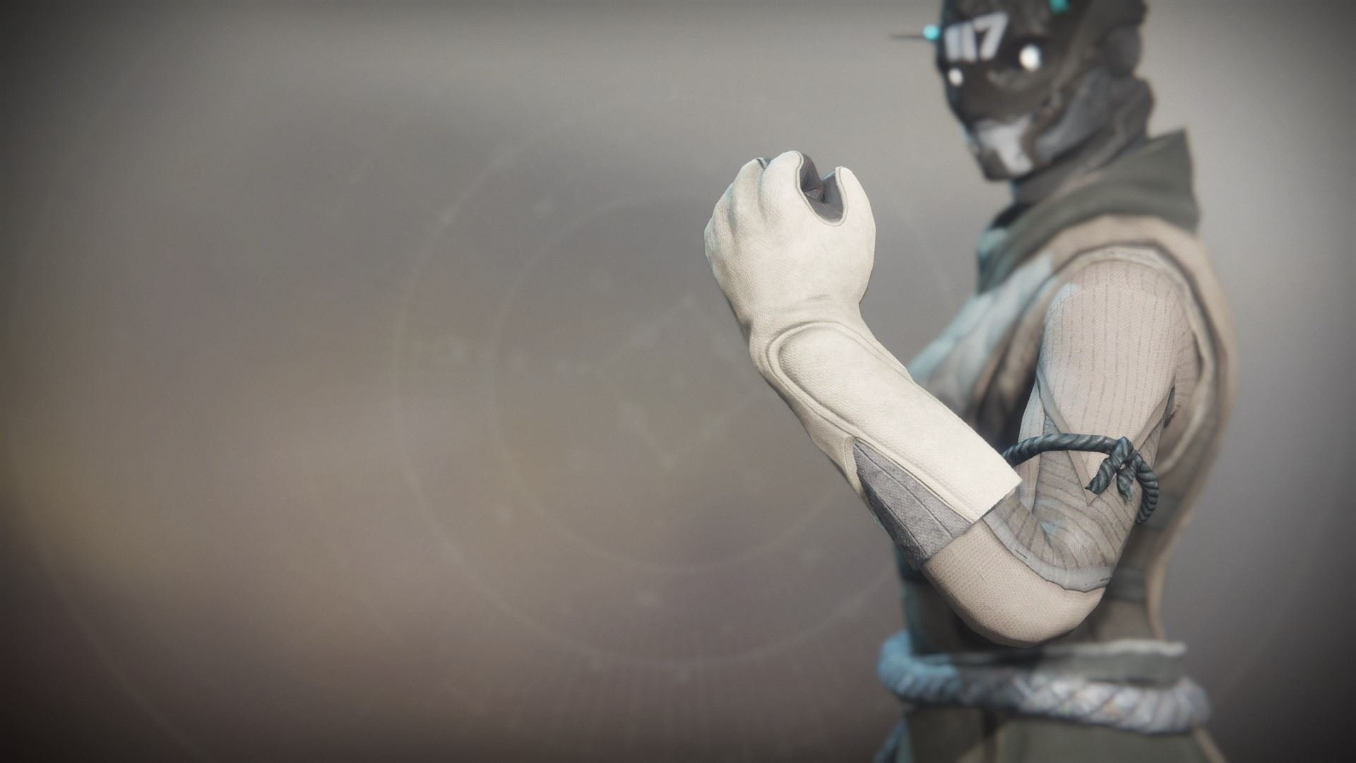 An in-game render of the Solstice Gloves (Rekindled).