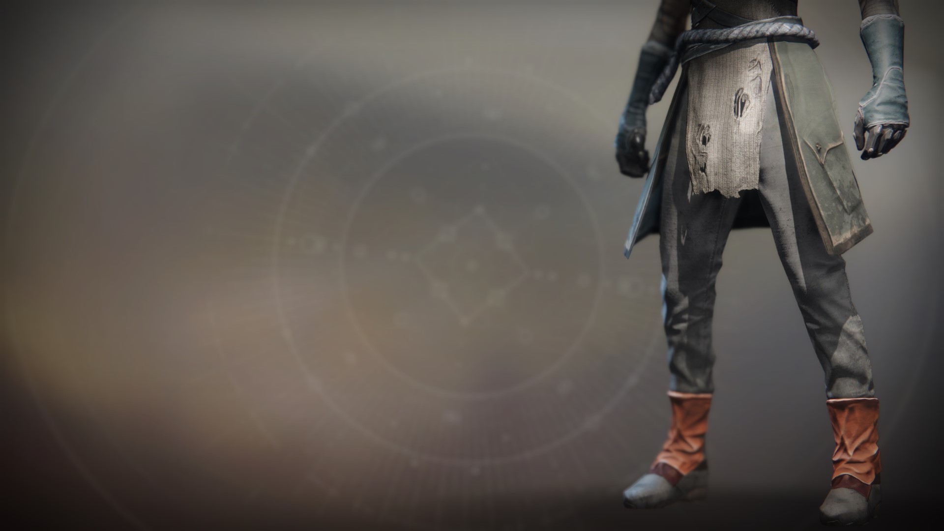 An in-game render of the Ancient Apocalypse Boots.