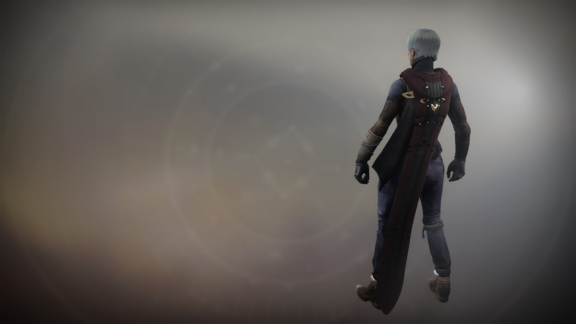 An in-game render of the Cloak of the Great Hunt.