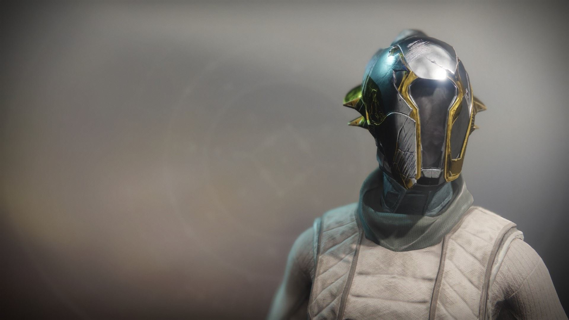 An in-game render of the Solstice Hood (Scorched).