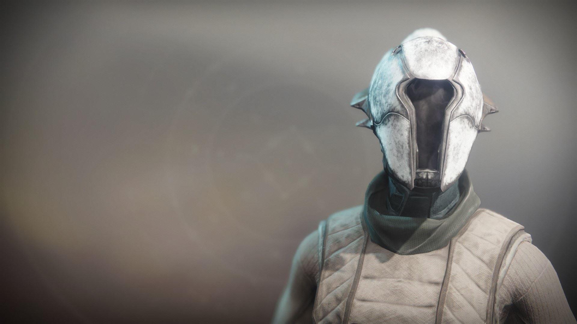 An in-game render of the Solstice Hood (Rekindled).