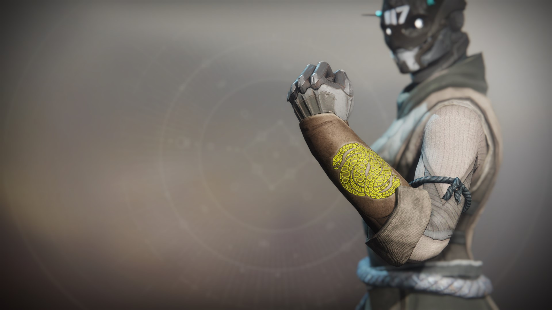 An in-game render of the Illicit Sentry Gloves.