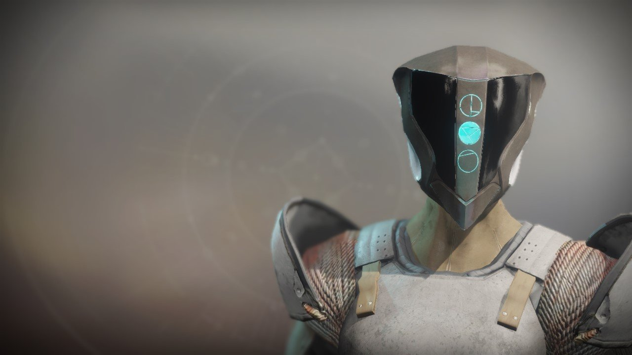 An in-game render of the Crushing Helm.