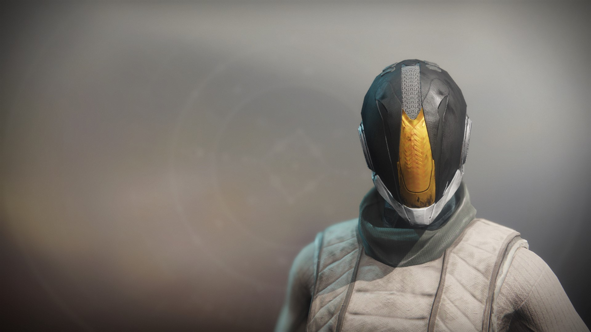 An in-game render of the Superior's Vision Hood.