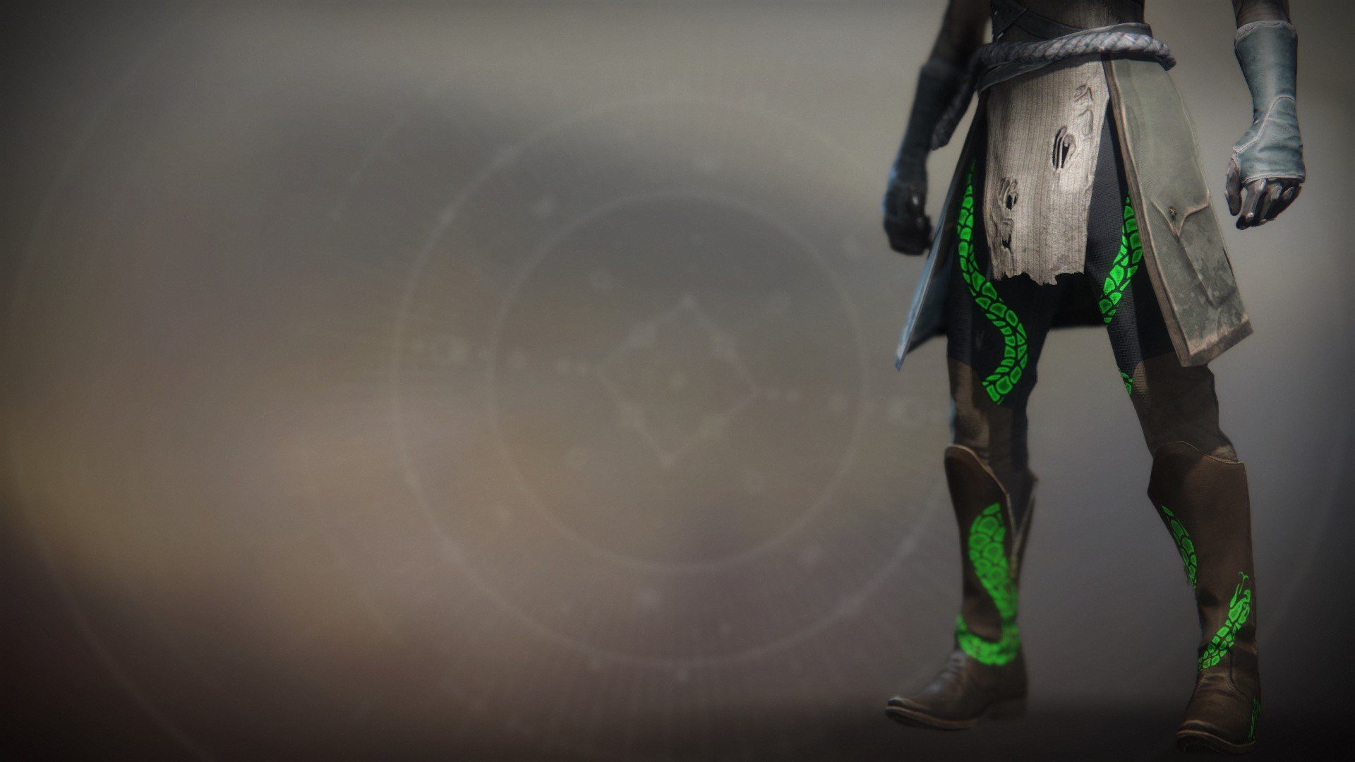 An in-game render of the Notorious Reaper Boots.