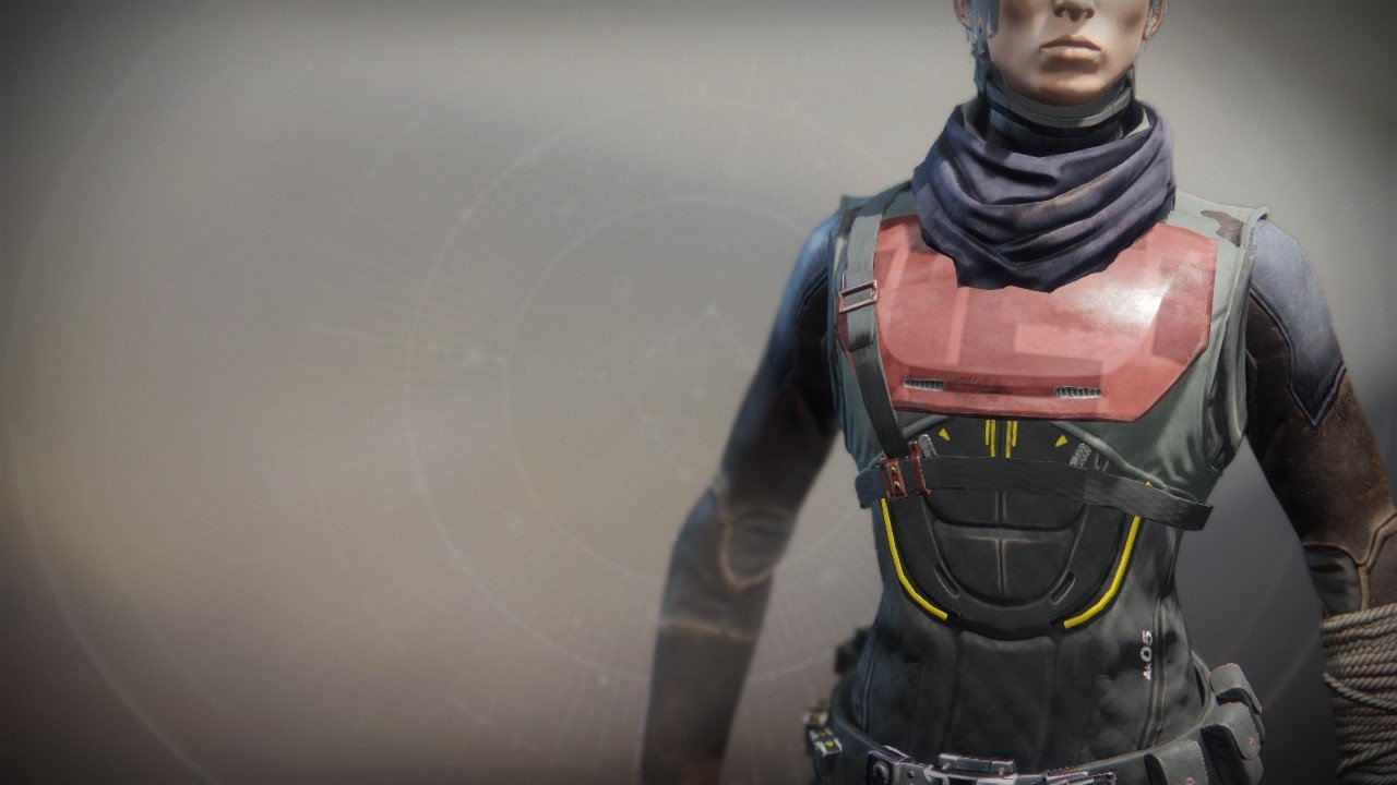 An in-game render of the Exodus Down Vest.
