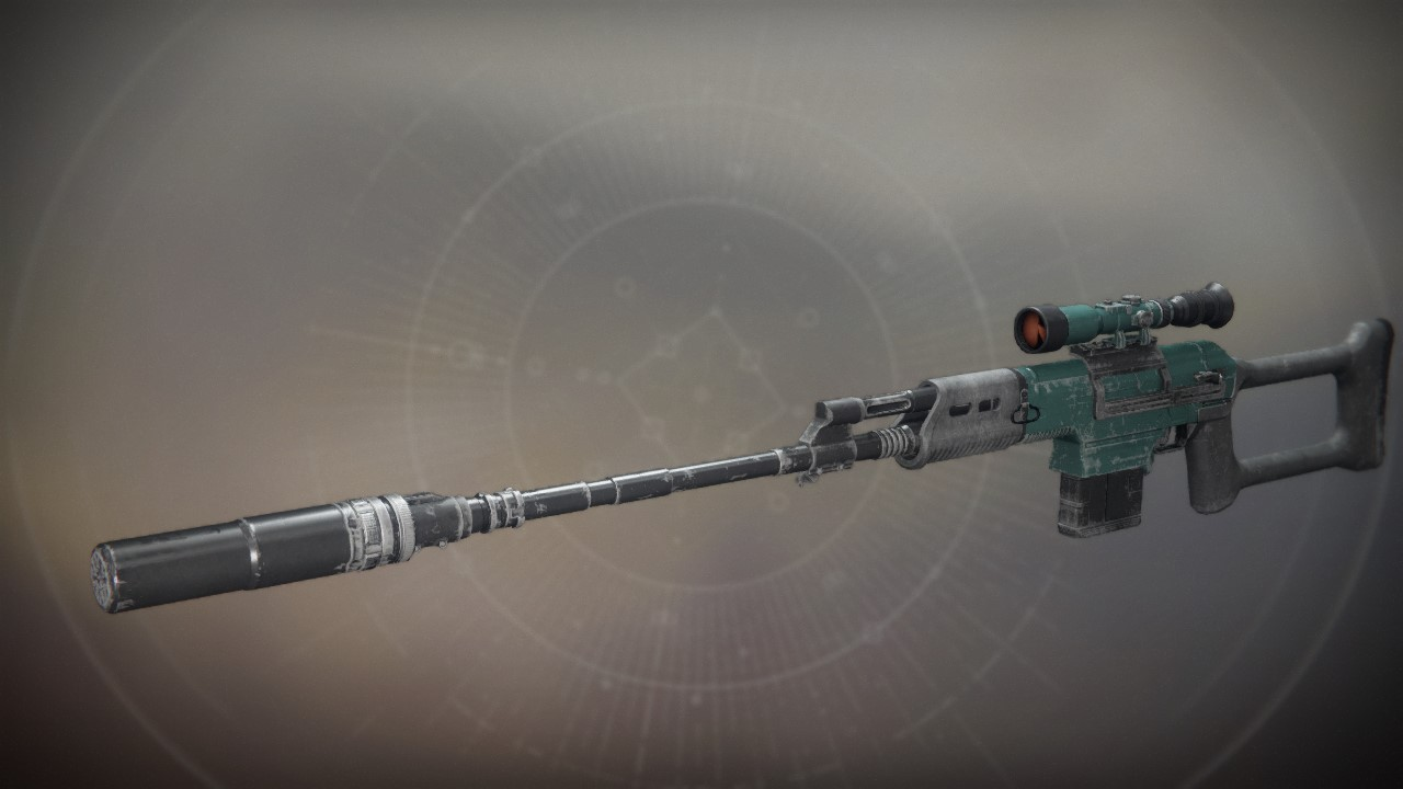 An in-game render of the Dead Zone Rifle.