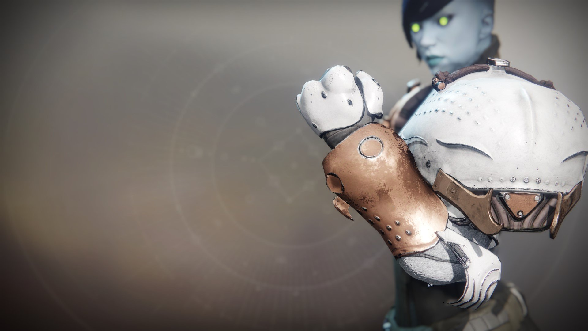 An in-game render of the Turris Shade Gauntlets.
