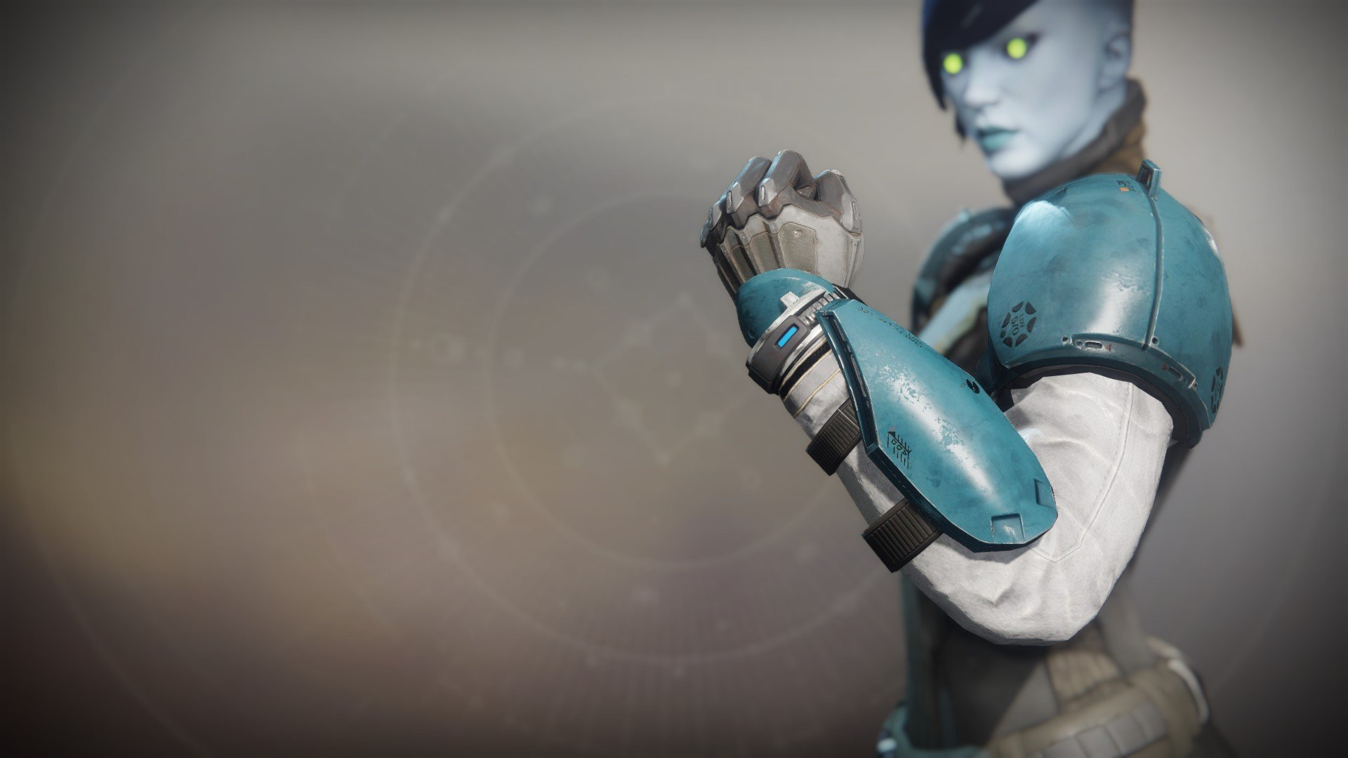 An in-game render of the Lost Pacific Gauntlets.