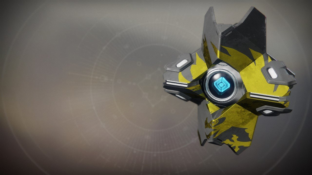 An in-game render of the Warlock Shell.