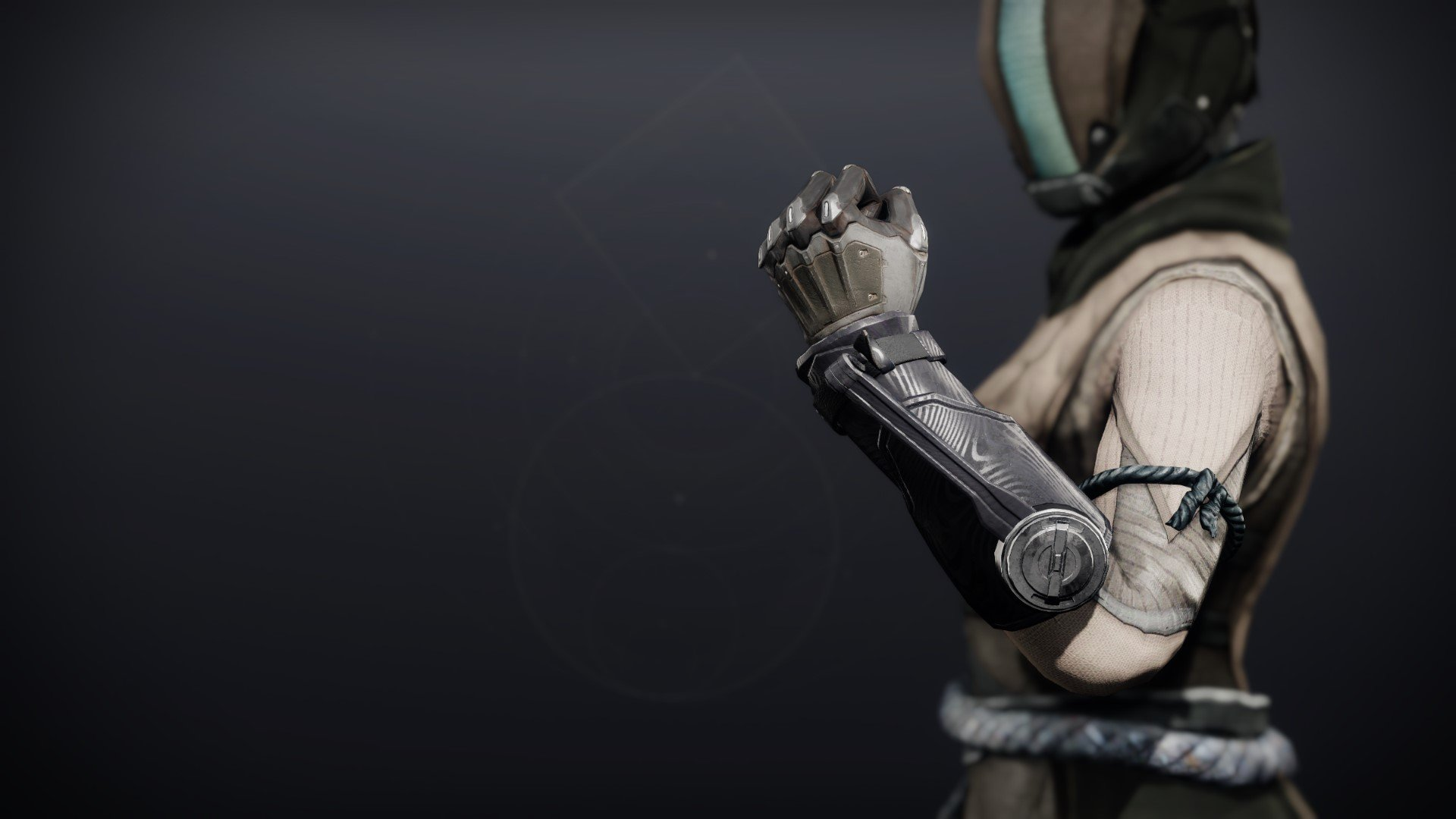An in-game render of the Annealed Shaper Gloves.