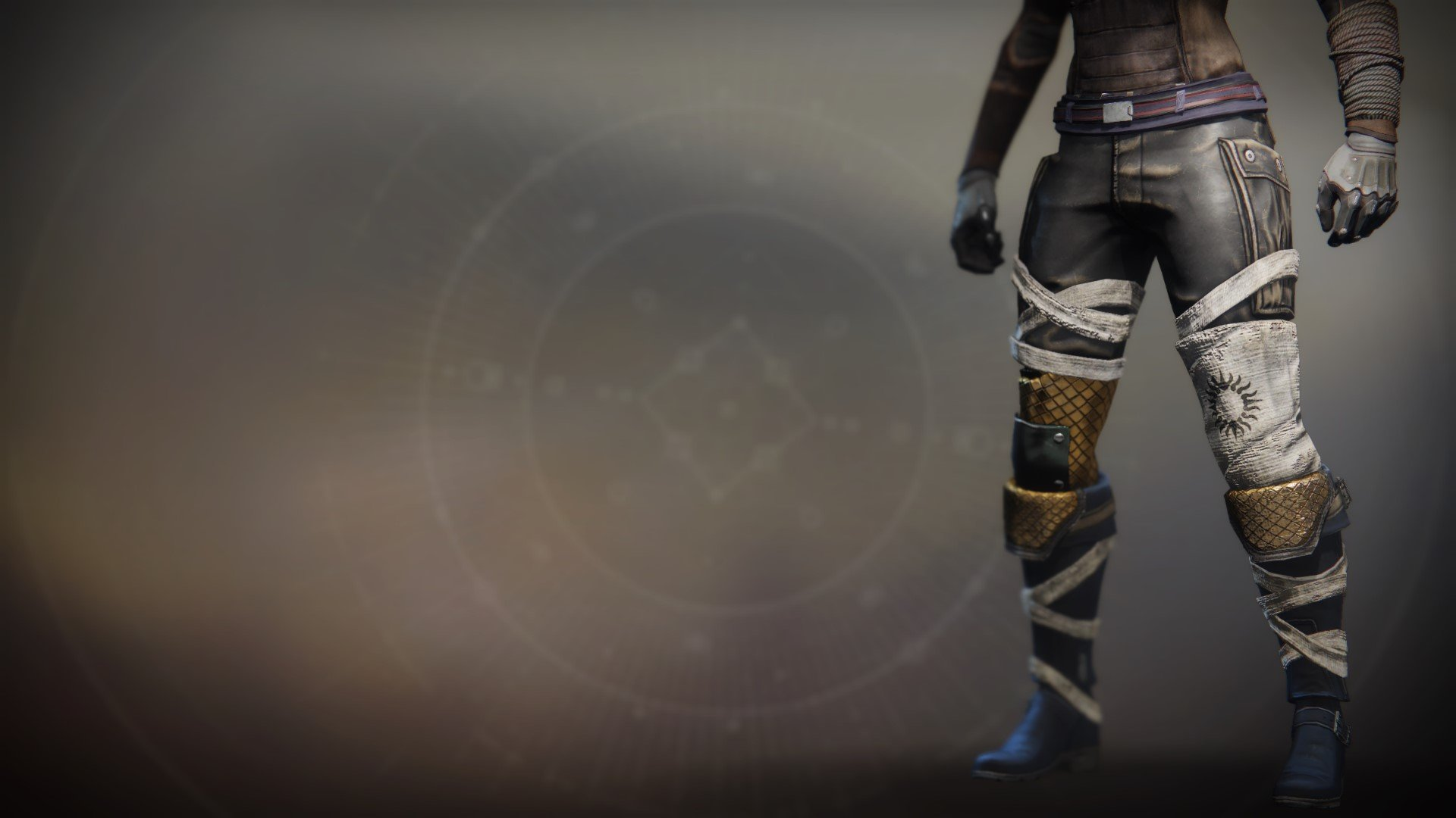 An in-game render of the Boots of the Exile.