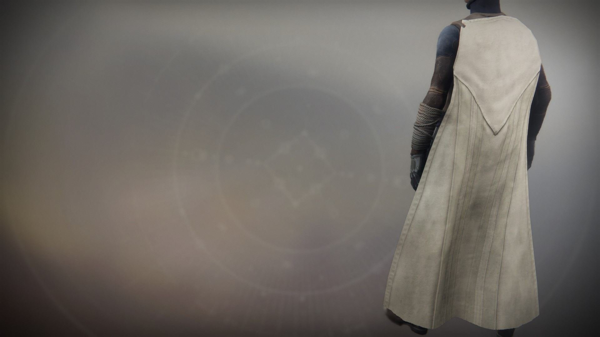 An in-game render of the Solstice Cloak (Rekindled).