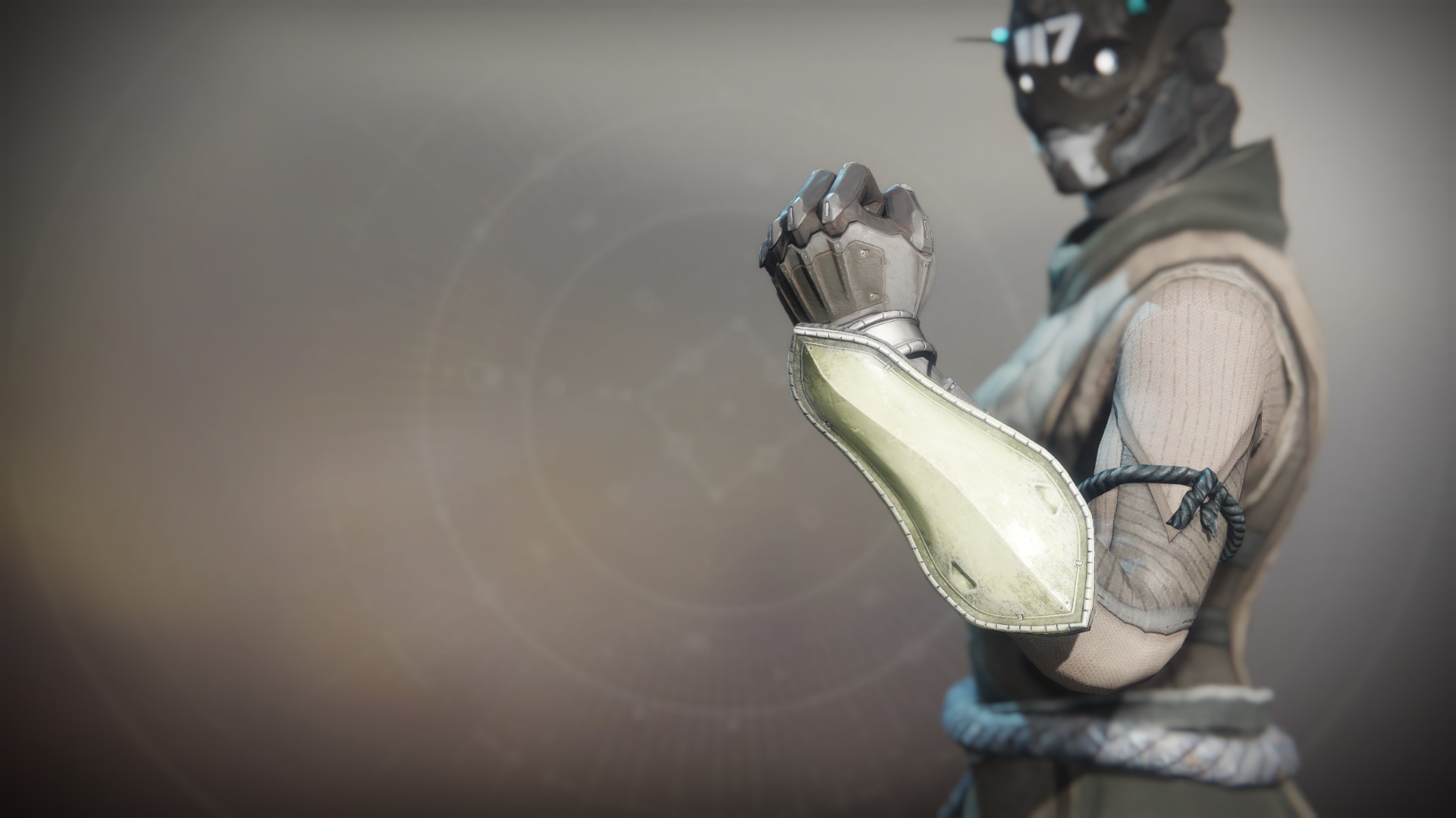 An in-game render of the Gensym Knight Gloves.