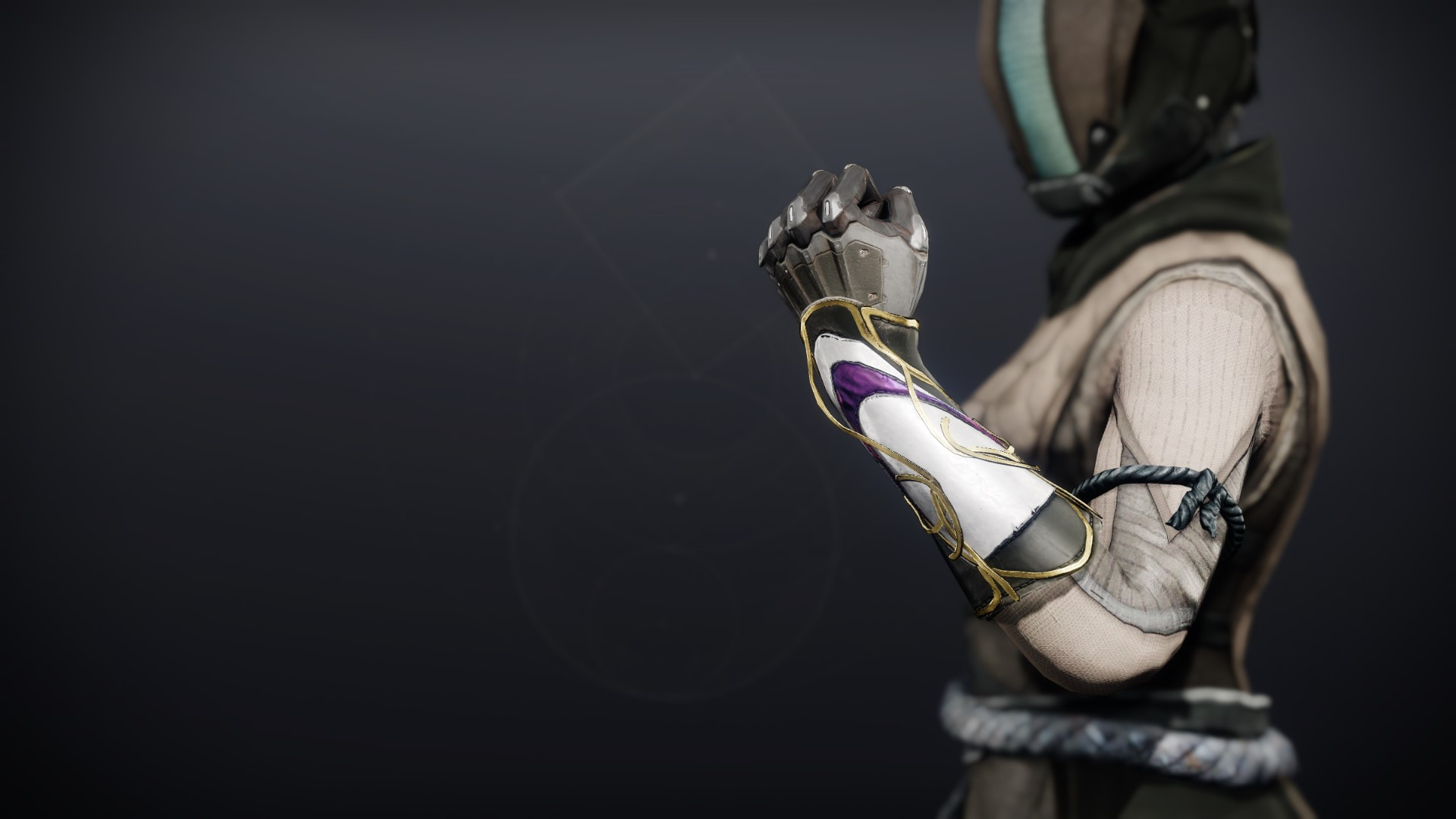 An in-game render of the Celestine Gloves (Majestic).