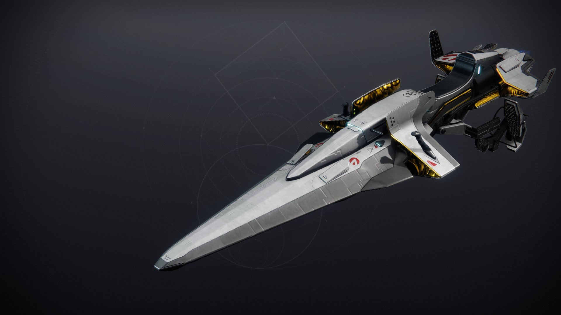 An in-game render of the Andromeda Racer.